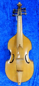 3996S Treble Viol with bow and padded bag - in fair condition