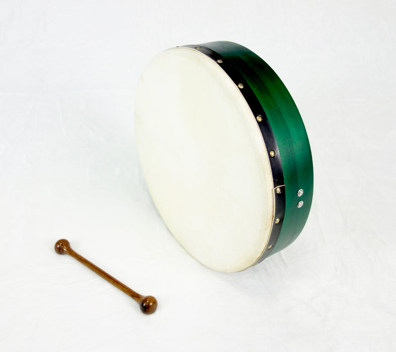 "EMS 14"" x 3.5"" Fixed Head Bodhran in Green"