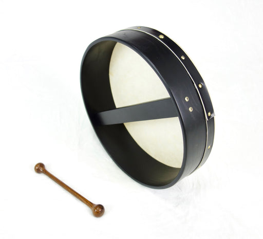 "EMS 14"" x 3.5"" Fixed Head Bodhran in Black"