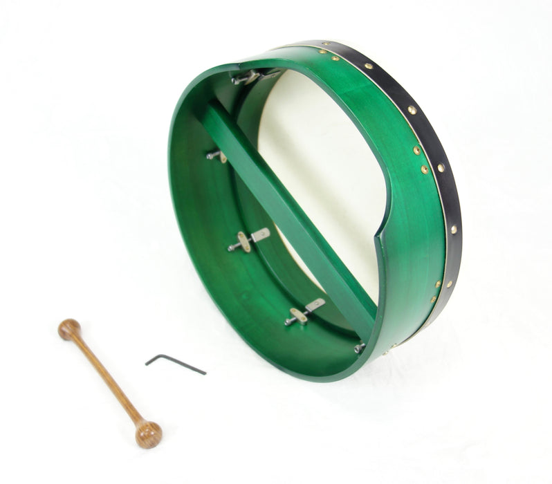 "EMS 14"" x 5"" Tuneable Bodhran in Green"