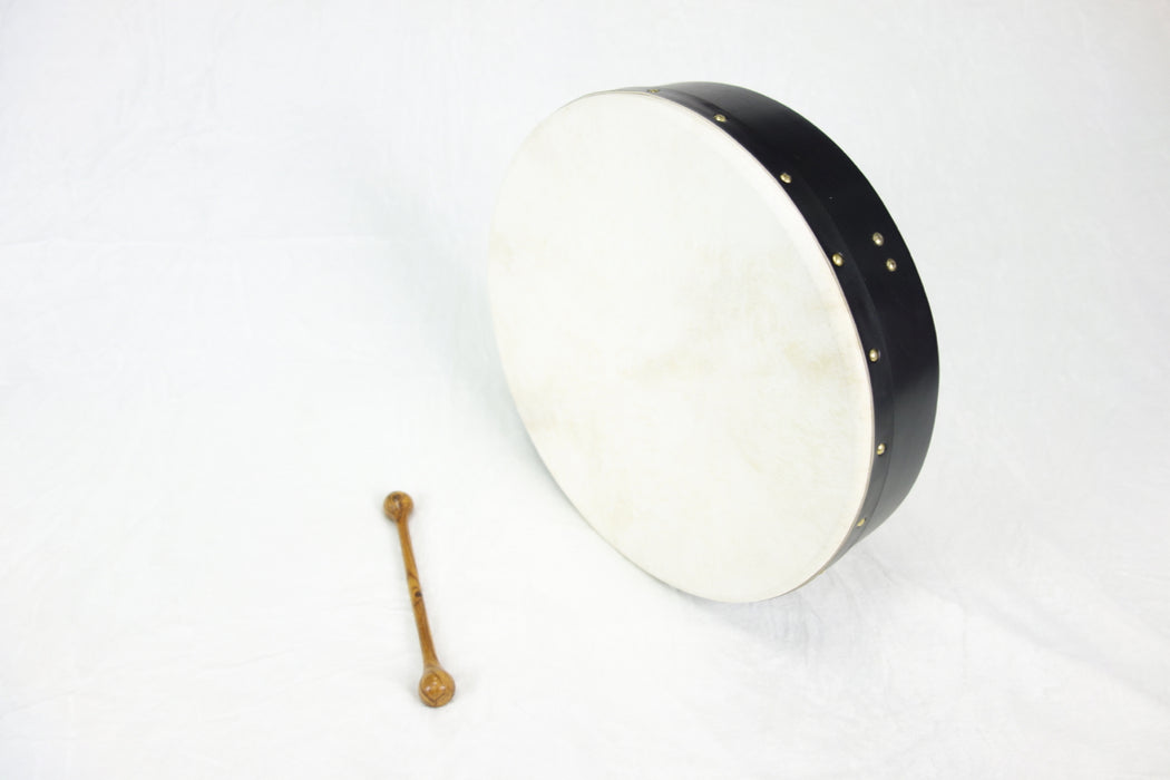 "EMS 16"" x 3.5"" Fixed Head Bodhran in Black"