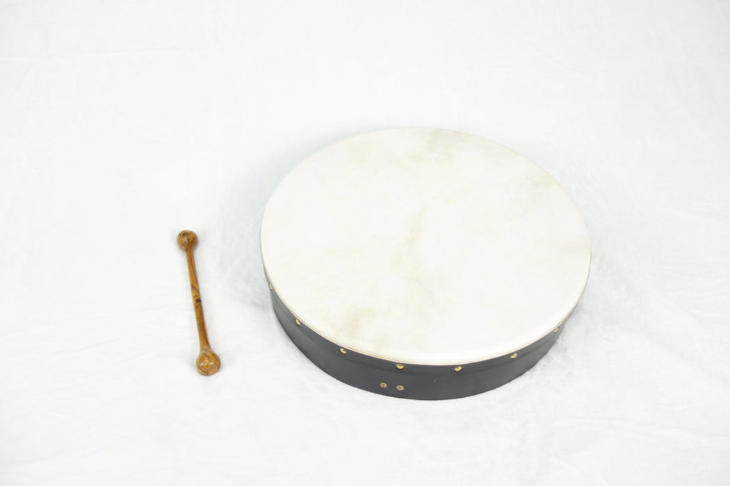 "EMS 18"" x 3.5"" Fixed Head Bodhran in Black"