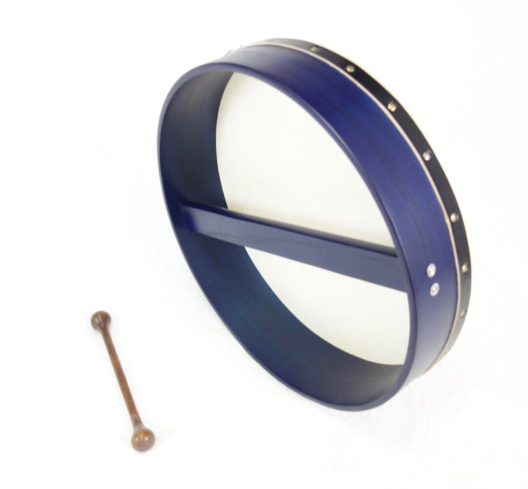 "EMS 18"" x 3.5"" Fixed Head Bodhran in Indigo"