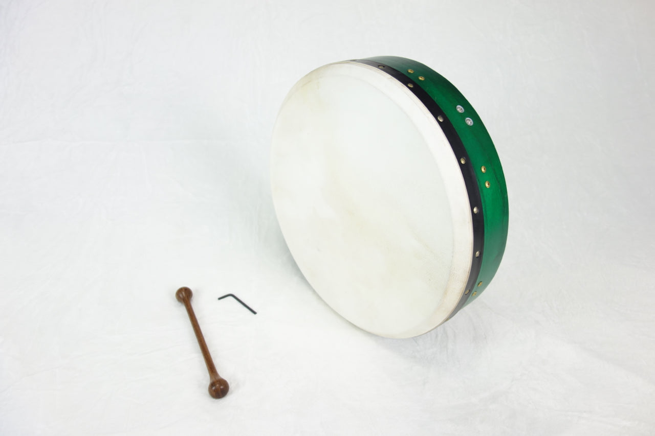 "EMS 14"" x 3.5"" Tuneable Bodhran in Green"