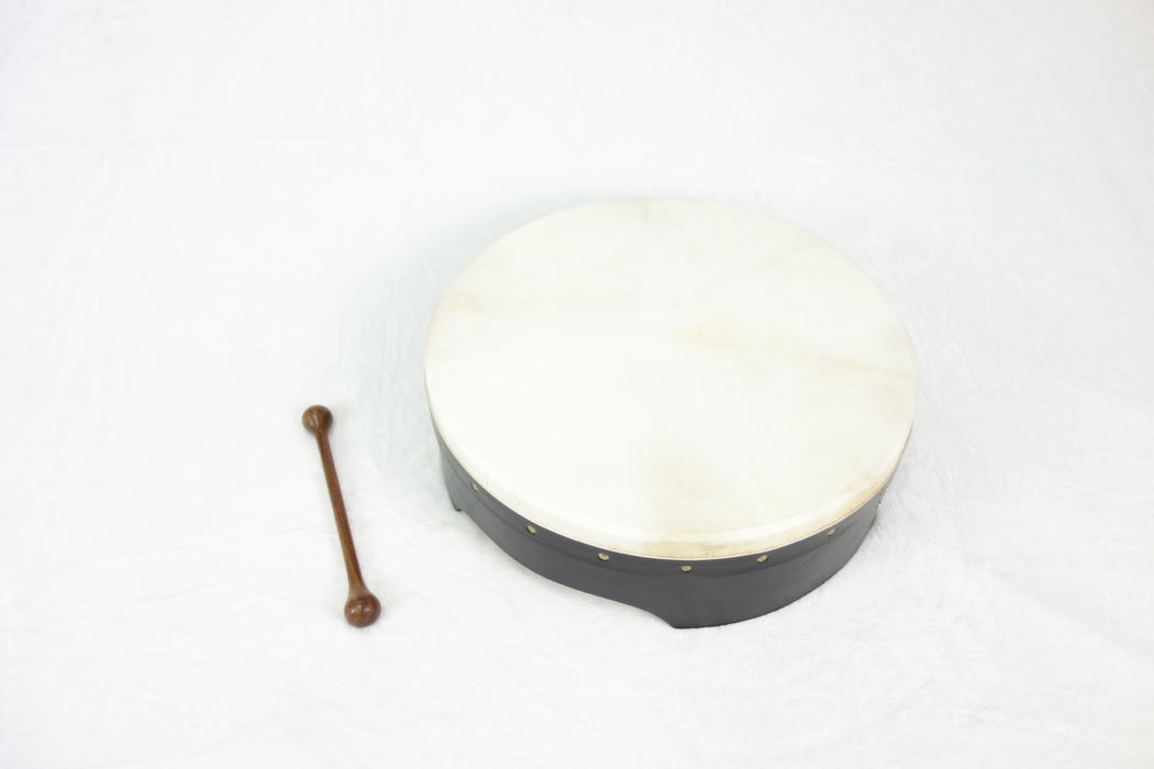 "EMS 16"" x 5"" Fixed Head Bodhran in Black"