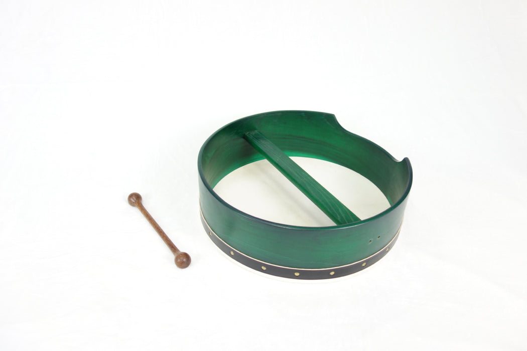 "EMS 16"" x 5"" Fixed Head Bodhran in Green"