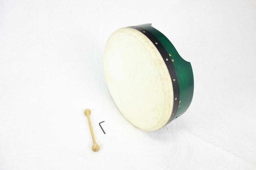 "EMS 18"" x 5"" Tuneable Bodhran in Green"