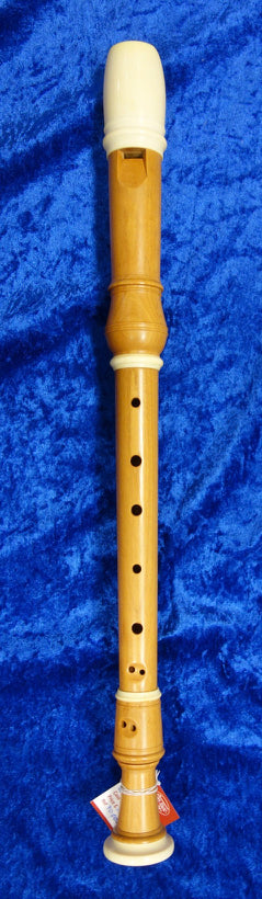 PO0040S Dolmetsch Alto Recorder in Cherry Wood no. 26351 with decorative rings and in very good condition - no case.