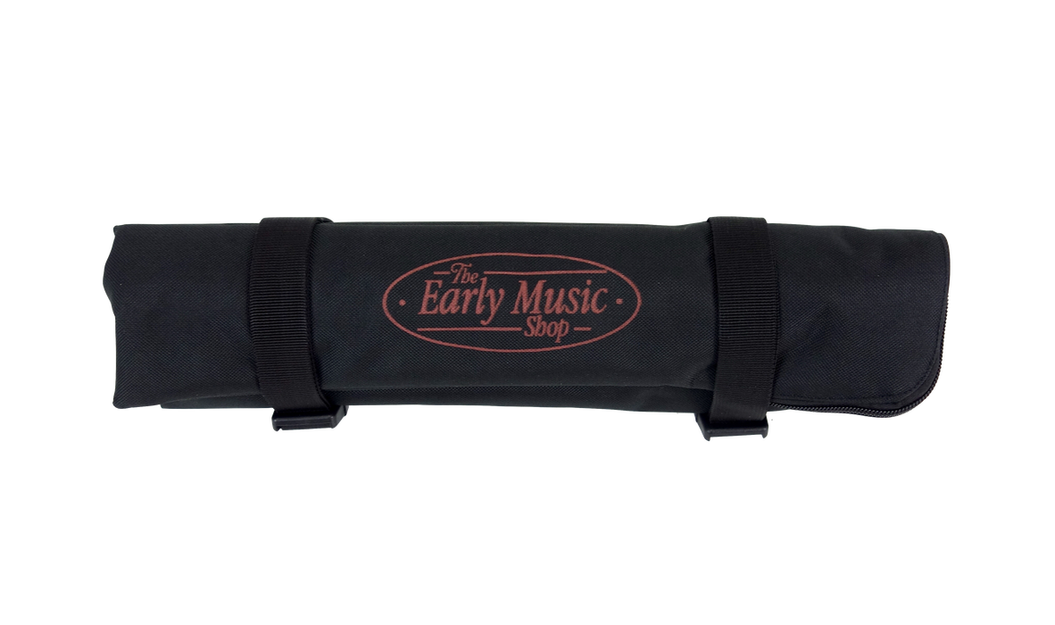 EMS 3 Slot Fleece Lined Recorder Roll Bag, Black Canvas Exterior