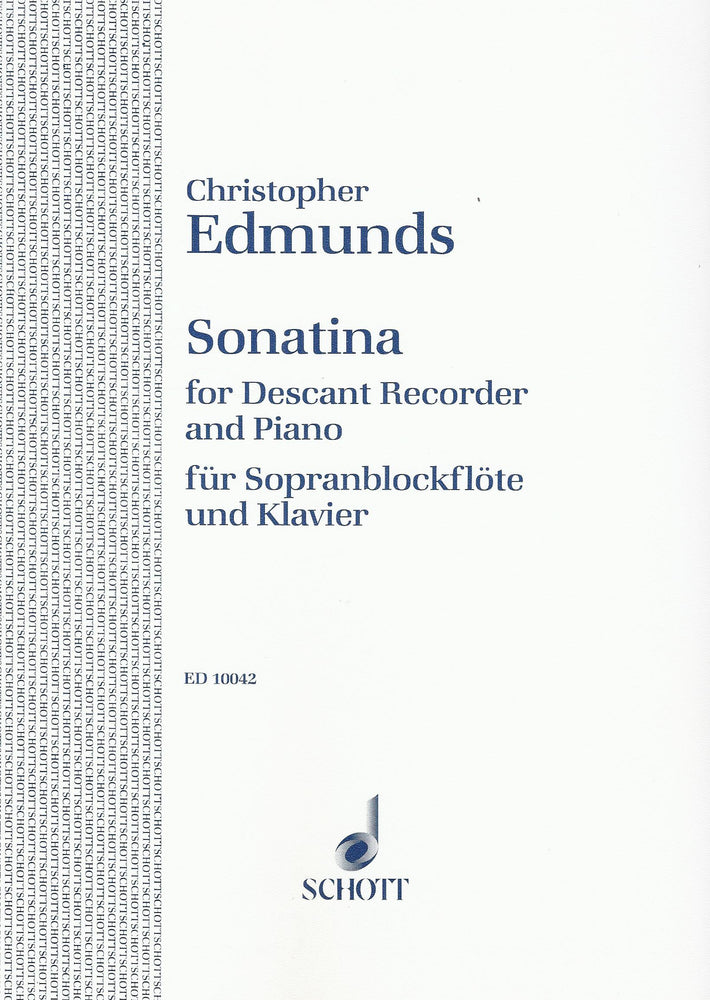 Edmunds: Sonatina for Descant Recorder and Piano