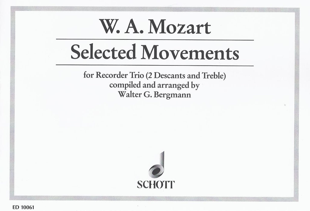 Mozart: Selected Movements for Recorder Trio