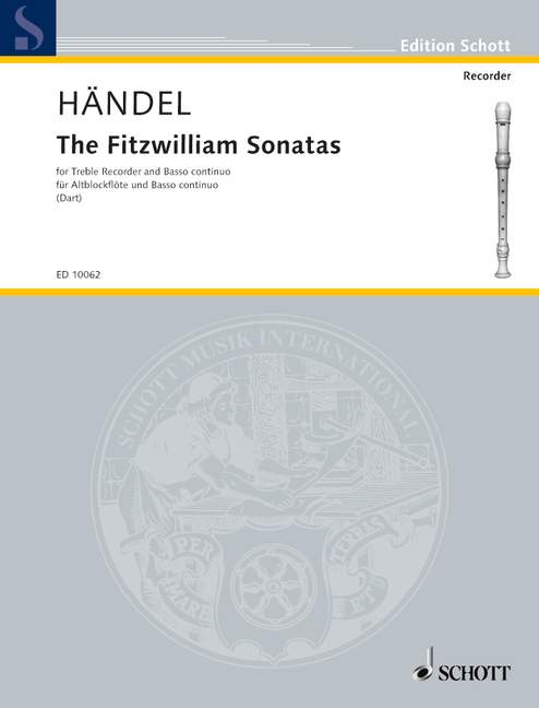 Handel: The Fitzwilliam Sonatas for Alto Recorder and Continuo