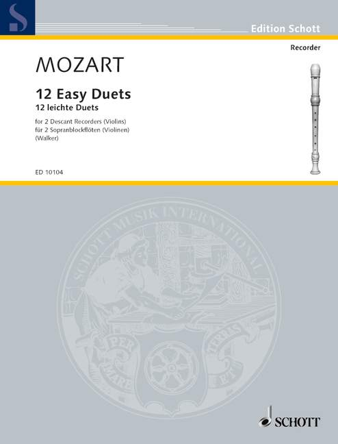 Mozart: 12 Easy Duets for 2 Descant Recorders