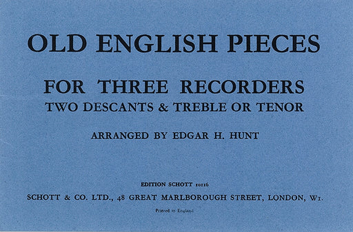 Various: Old English Pieces for 3 Recorders
