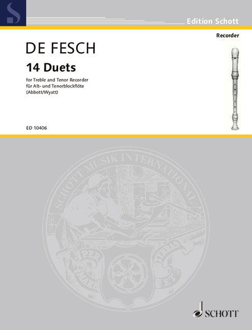 de Fesch: 14 Duets for Treble and Tenor Recorder
