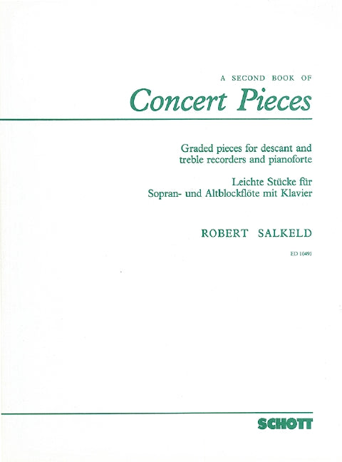 Salkeld: A Second Book of Concert Pieces for Descant and Treble Recorders and Piano