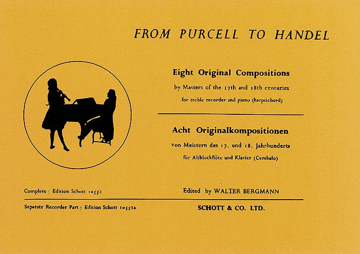 Bergmann (ed.): From Purcell to Handel