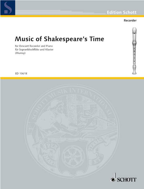 Various: Music of Shakespeare's Time for Descant Recorder and Piano