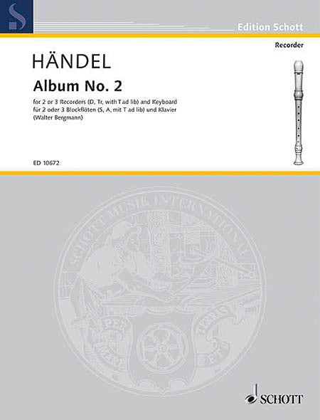 Handel: Album No. 2 for 2-3 Recorders and Keyboard