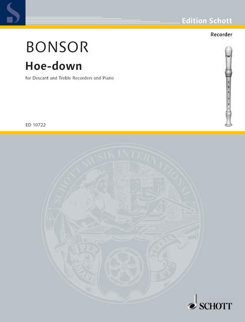 Bonsor: Hoe-Down for Descant and Treble Recorders and Piano