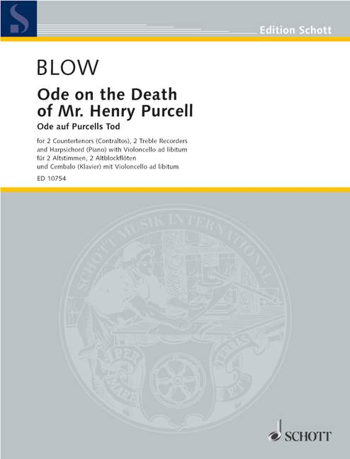 Blow: Ode on the Death of Henry Purcell