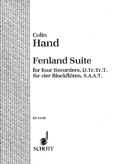 Hand: Fenland Suite for 4 Recorders