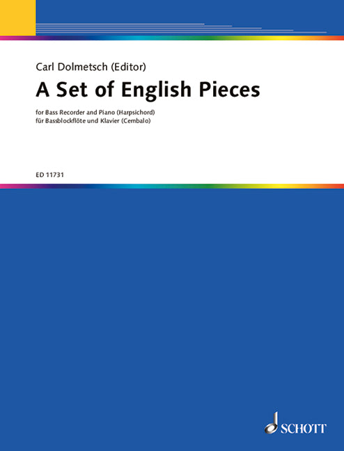 Dolmetsch (ed.): A Set of English Pieces for Bass Recorder and Piano