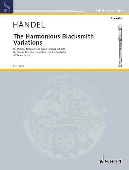Handel: The Harmonious Blacksmith Variations for Descant Recorder and Keyboard