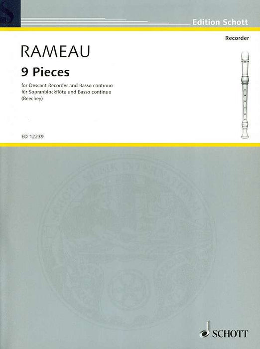 Rameau: 9 Pieces for Descant Recorder and Basso Continuo