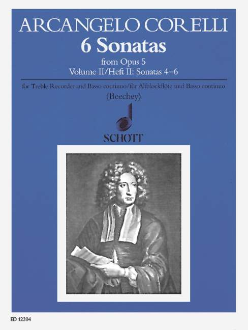 Corelli: 6 Sonatas for Treble Recorder and Basso Continuo, Op. 5, Vol. 2