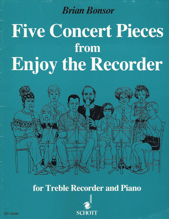 Bonsor: 5 Concert Pieces from Enjoy the Recorder for Treble Recorder and Piano