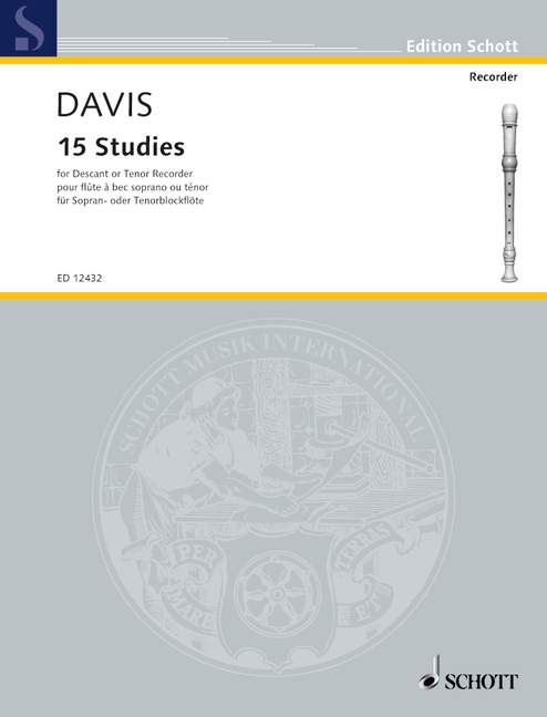 Davis: 15 Studies for Descant or Tenor Recorder