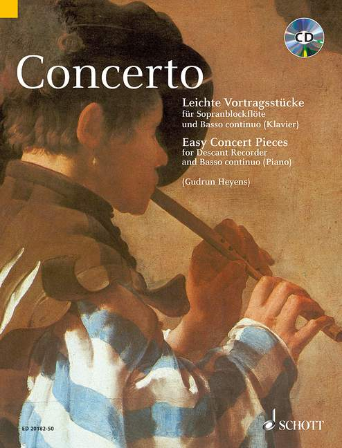 Heyens (ed.): Concerto - Easy Concert Pieces for Descant Recorder and Basso Continuo - CD edition