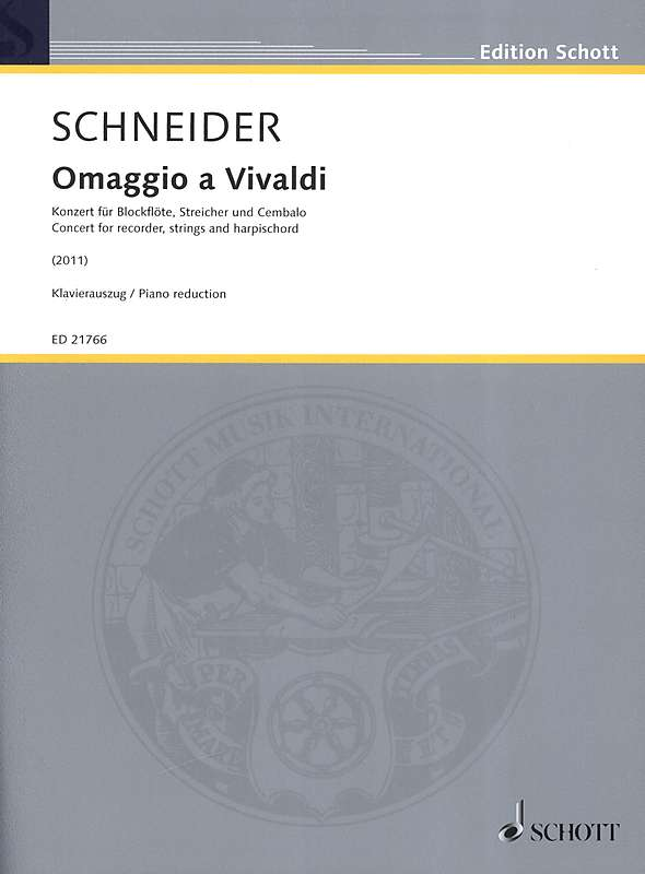 Schneider: Omaggio a Vivaldi - Piano Reduction
