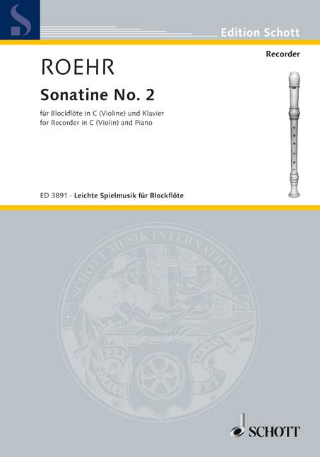 Roehr: Sonatina No. 2 for Descant Recorder and Piano