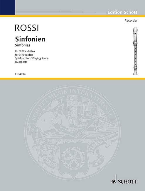 Rossi: Sinfonias for 3 Recorders