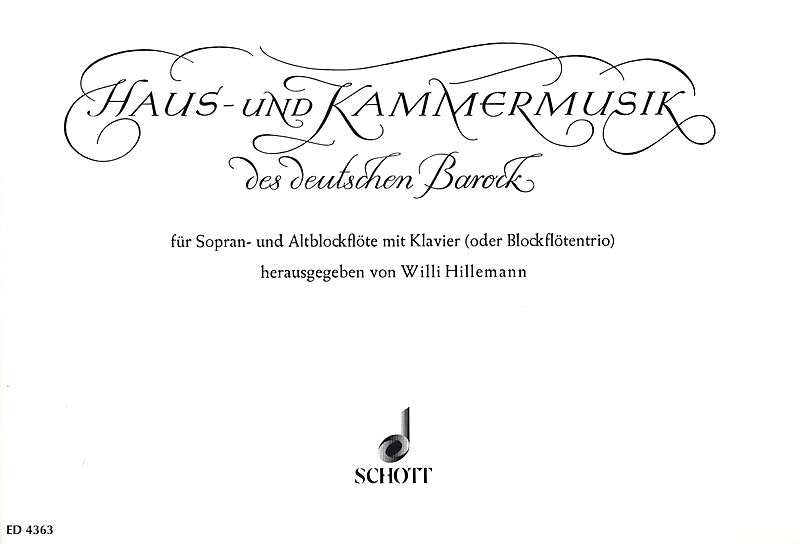 Various: Chamber Music of the German Baroque for 2 Recorders and Keyboard