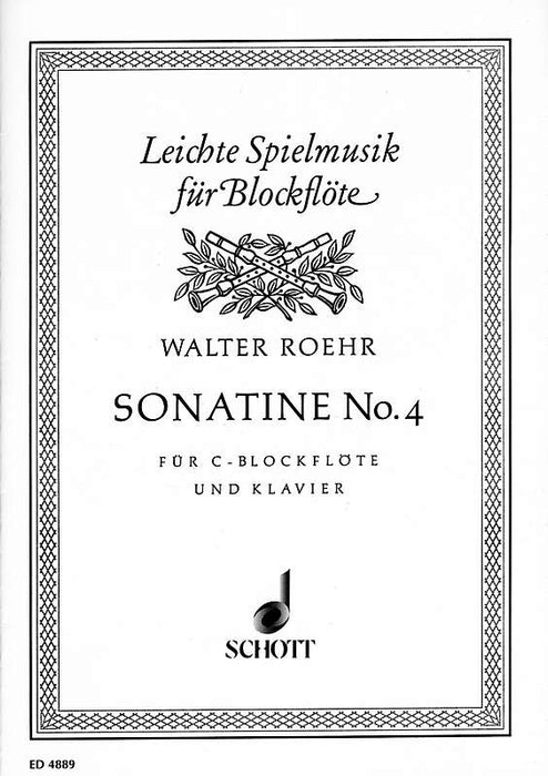Roehr: Sonatina No. 4 for Descant Recorder and Piano