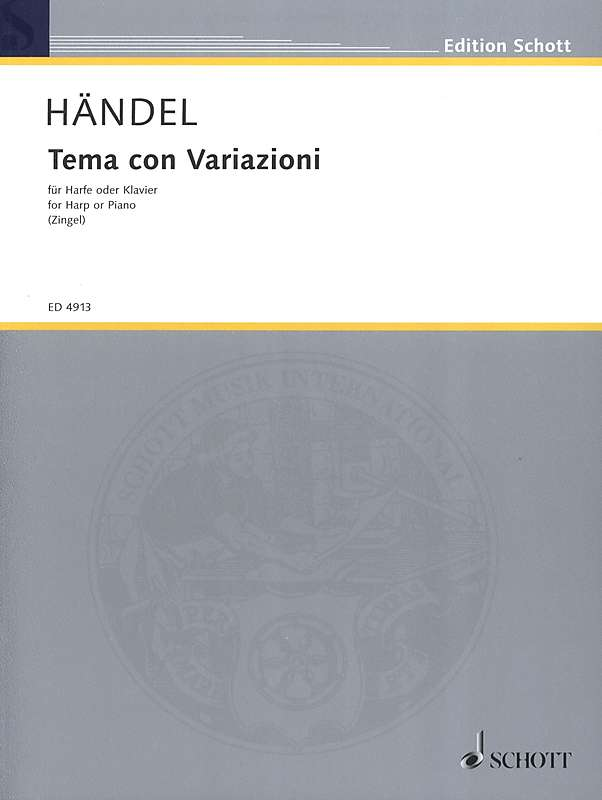 Handel: Theme and Variations for Harp or Keyboard