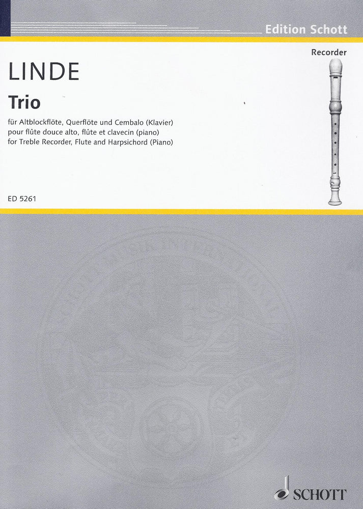 Linde: Trio for Treble Recorder, Flute and Harpsichord