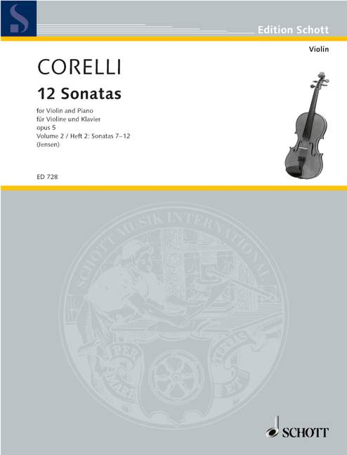 Corelli: 12 Sonatas for Violin and Basso Continuo, Op. 5, Vol. 2