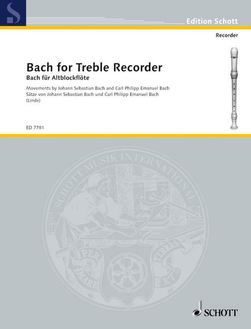 Linde (ed.): Bach for Treble Recorder