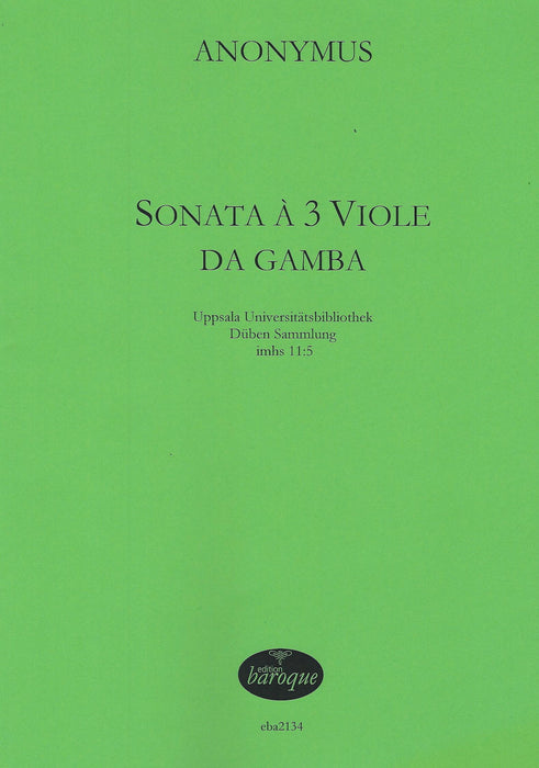 Anonymous: Sonata for 3 Viols