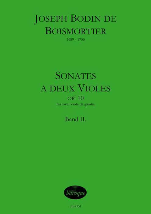 Boismortier: Sonatas for 2 Viols Op. 10, Vol. 2