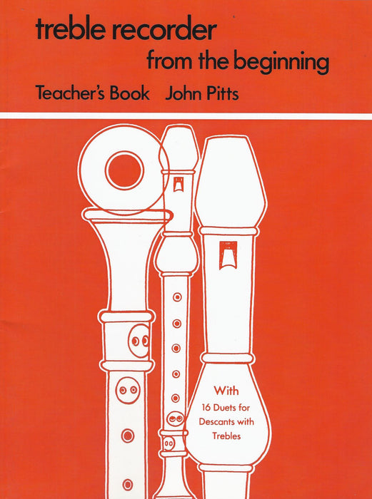 Pitts: Treble Recorder from the Beginning, Teacher's Book