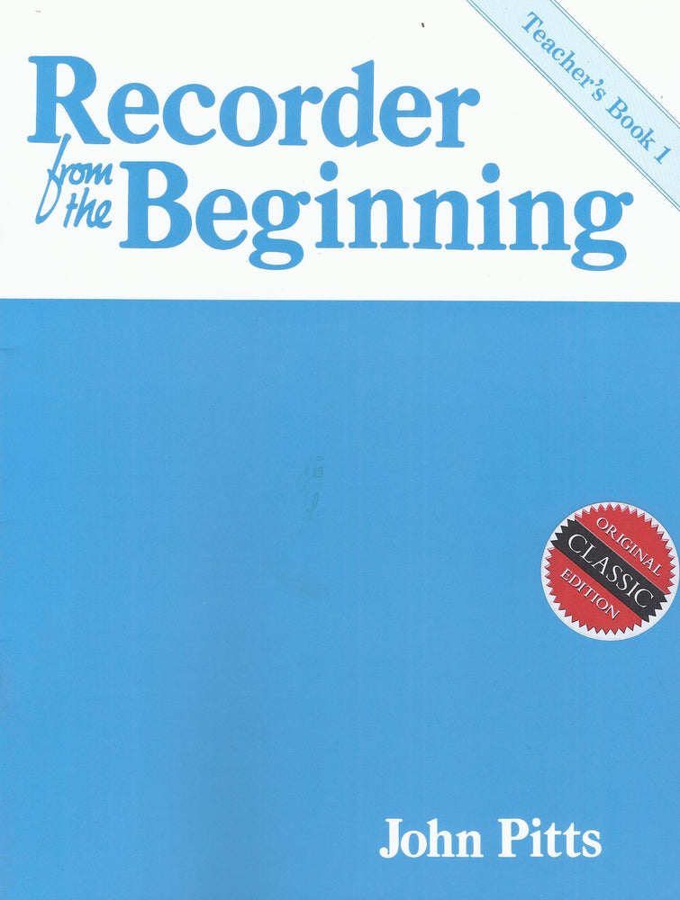 Pitts: Recorder from the Beginning, Teacher's Book 1