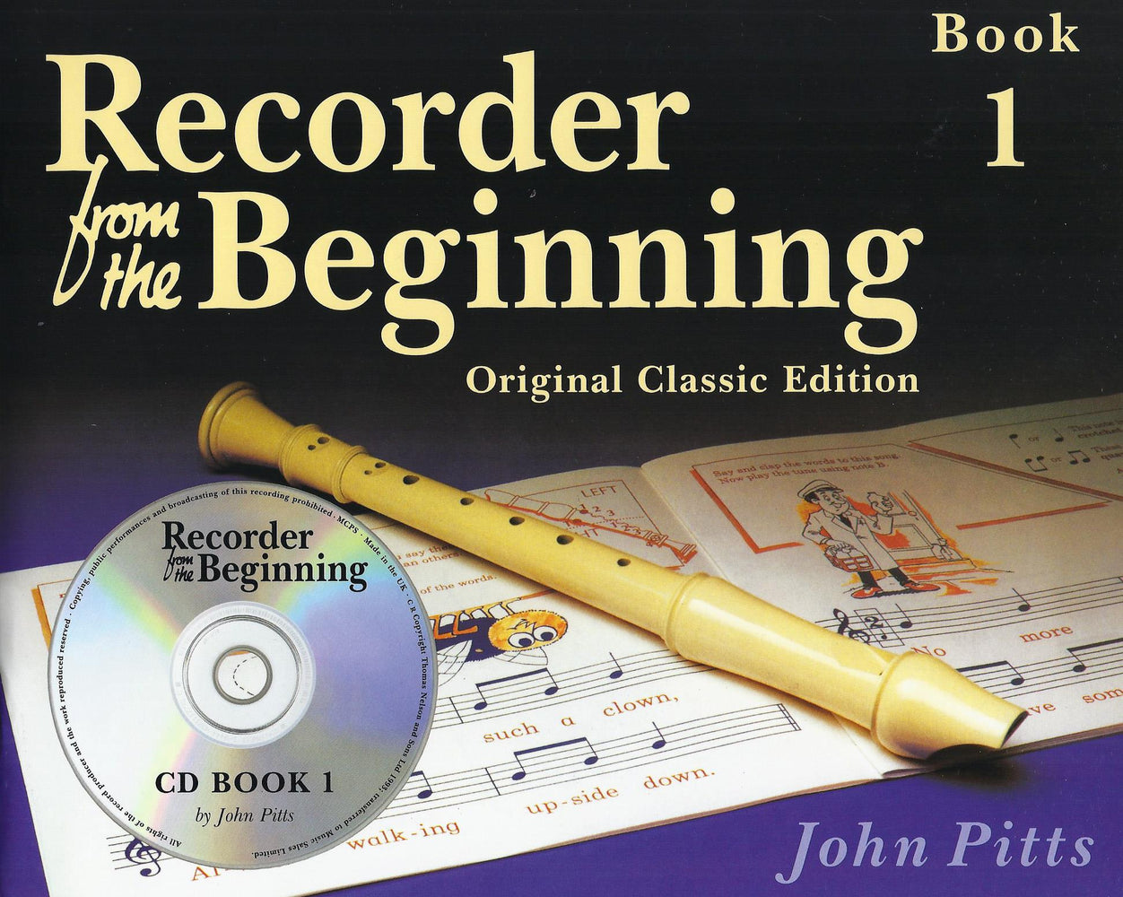 Pitts: Recorder from the Beginning Book 1 - Original Classic Edition with CD