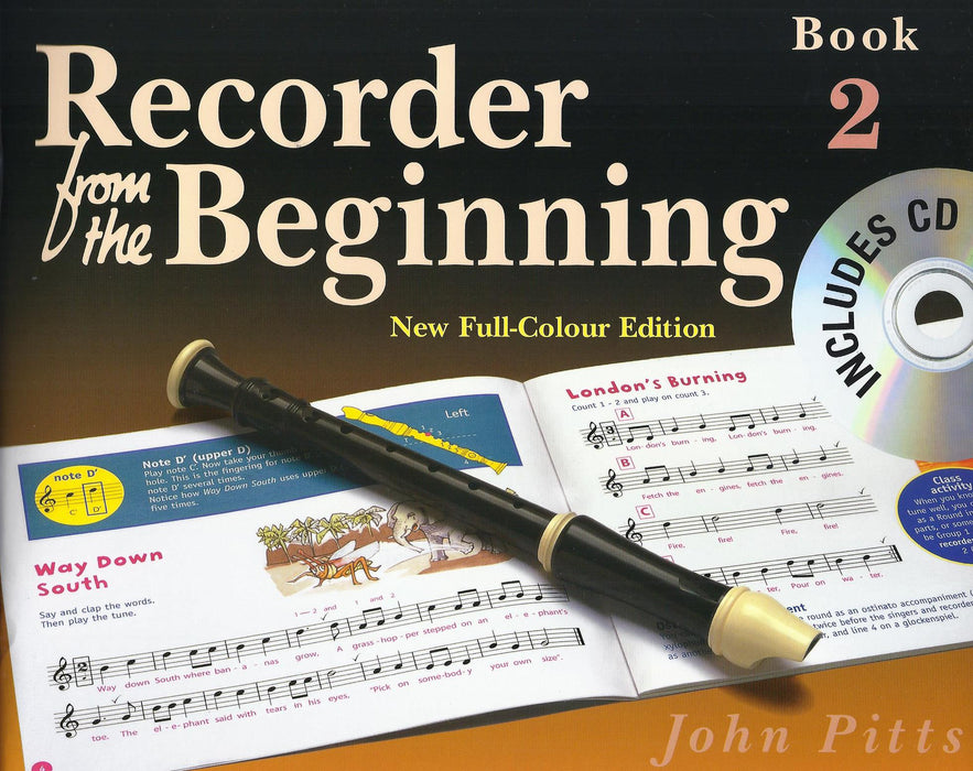 Pitts: Recorder from the Beginning Book 2 - New Full-Colour Edition with CD