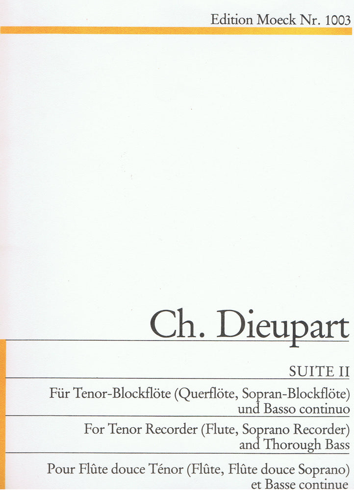 Dieupart: Suite II in G Minor for Tenor Recorder and Basso Continuo