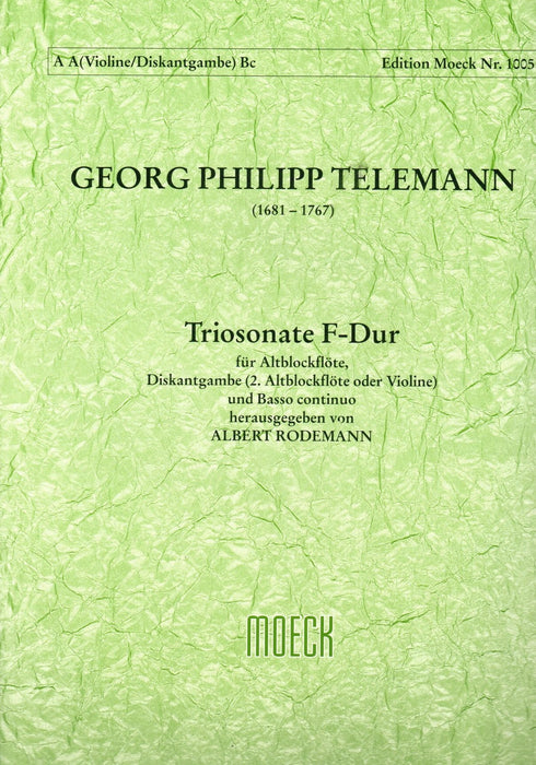 Telemann: Trio Sonata in F Major for Treble Recorder, Treble Viol and Basso Continuo